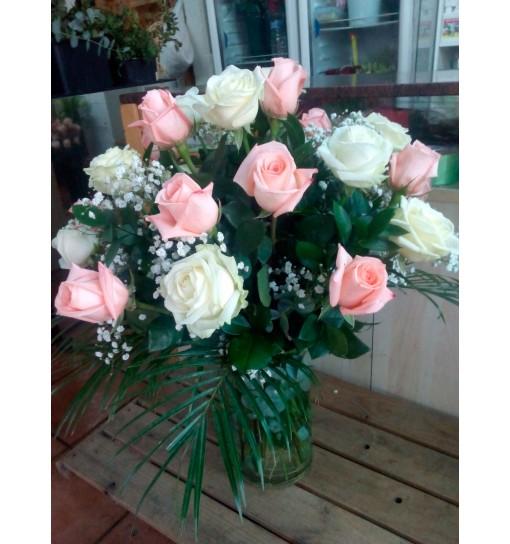 Jarron de rosas
