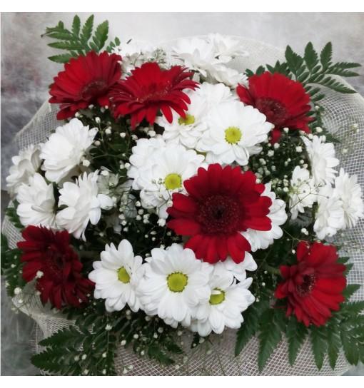 Ramo variado blanco y rojo