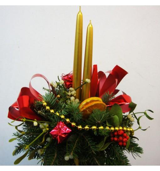 Centro Navidad Vela dorada